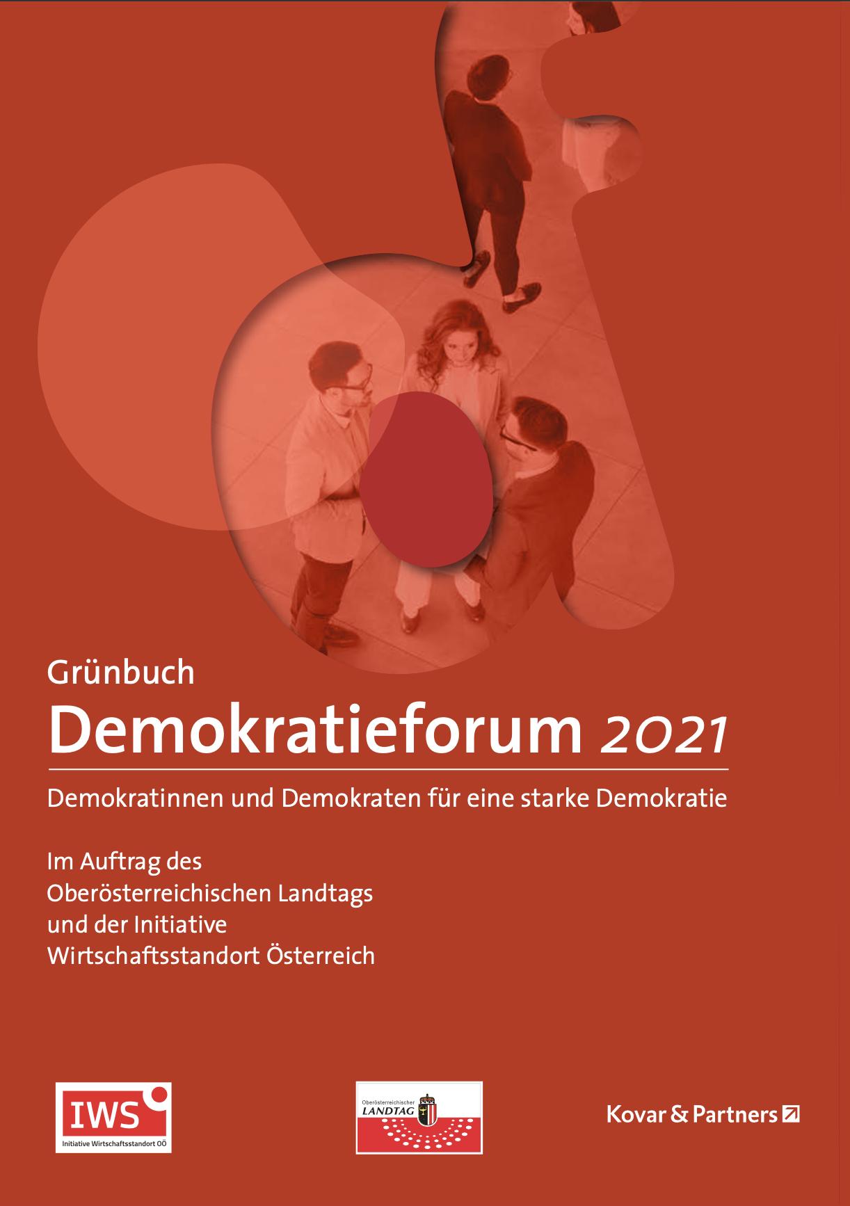 Cover Grünbuch Demokratieforum 2021